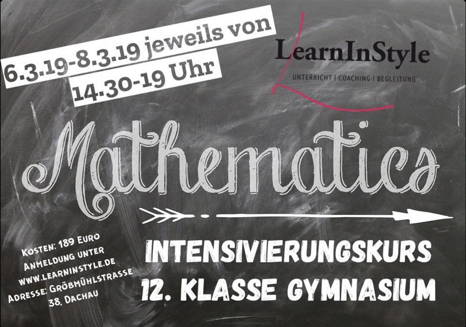 Intensivierungskurs Mathe 12. Klasse Gymnasium