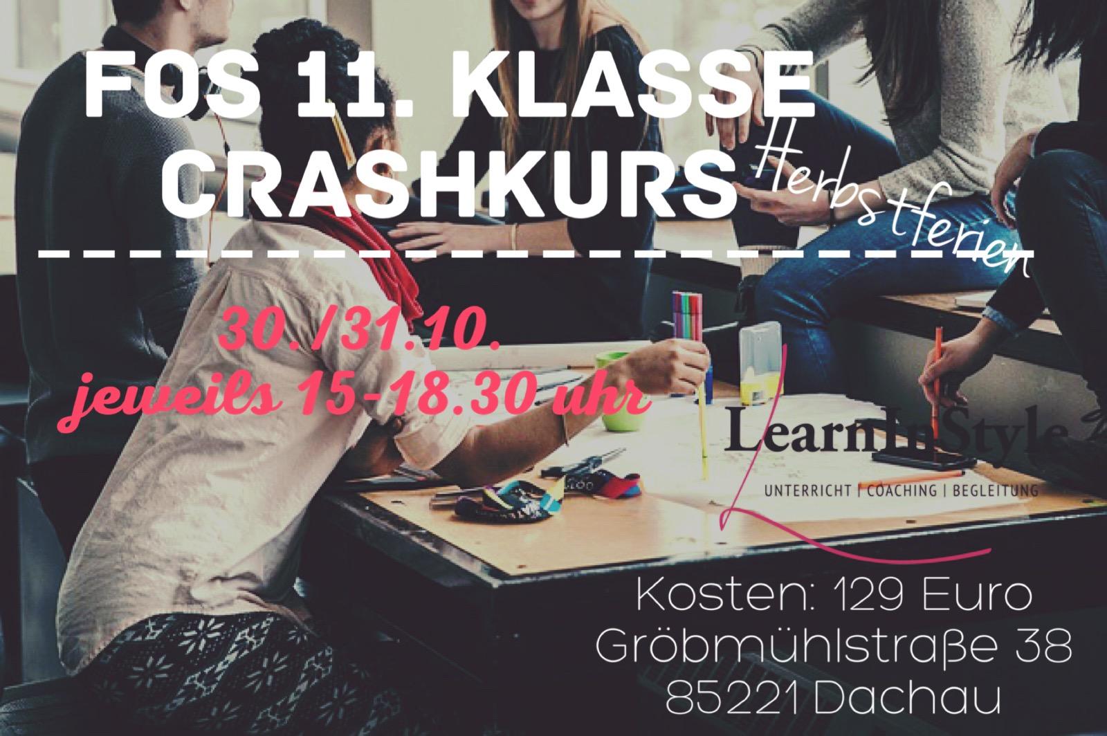 Herbstferien Crashkurs – 11.Klasse FOS