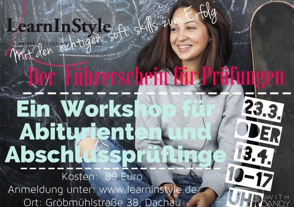 Führerschein für Prüfungen  – ein Workshop für Abiturienten und Abschlussprüflinge