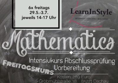 Mathe 10. Klasse Intensiv – Freitagskurs