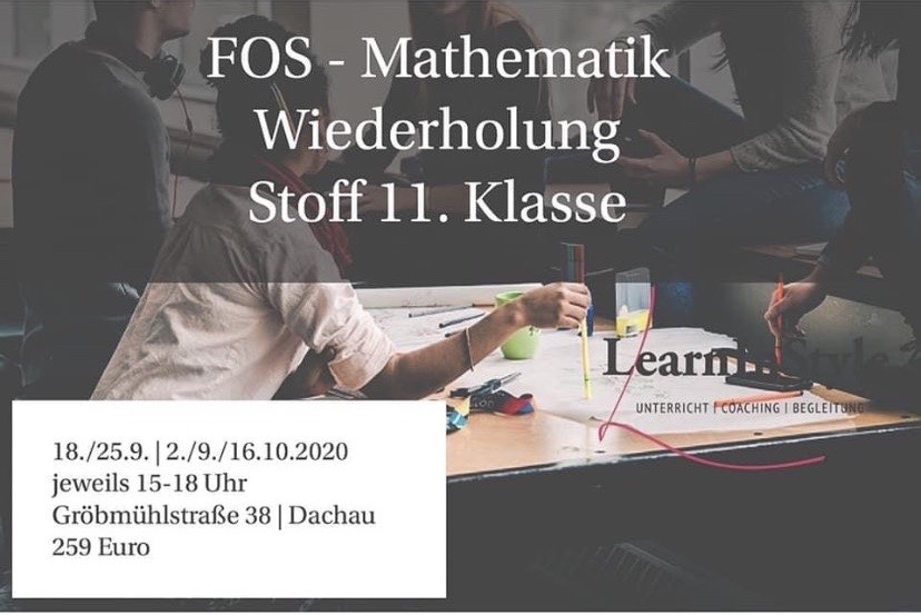 Wiederholung Stoff Mathe 11. Klasse FOS