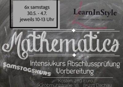 Intensiv Mathe 10. Klasse Realschule – Samstagskurs