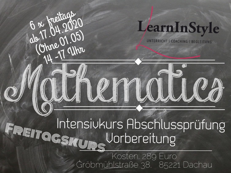 Mathe 10. Klasse Intensiv – Freitagskurs vor Pfingstferien