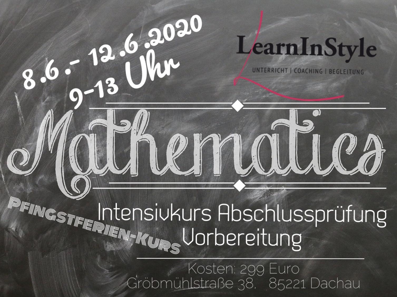 Intensivkurs Mathe 10. Klasse Realschule – Pfingstferien