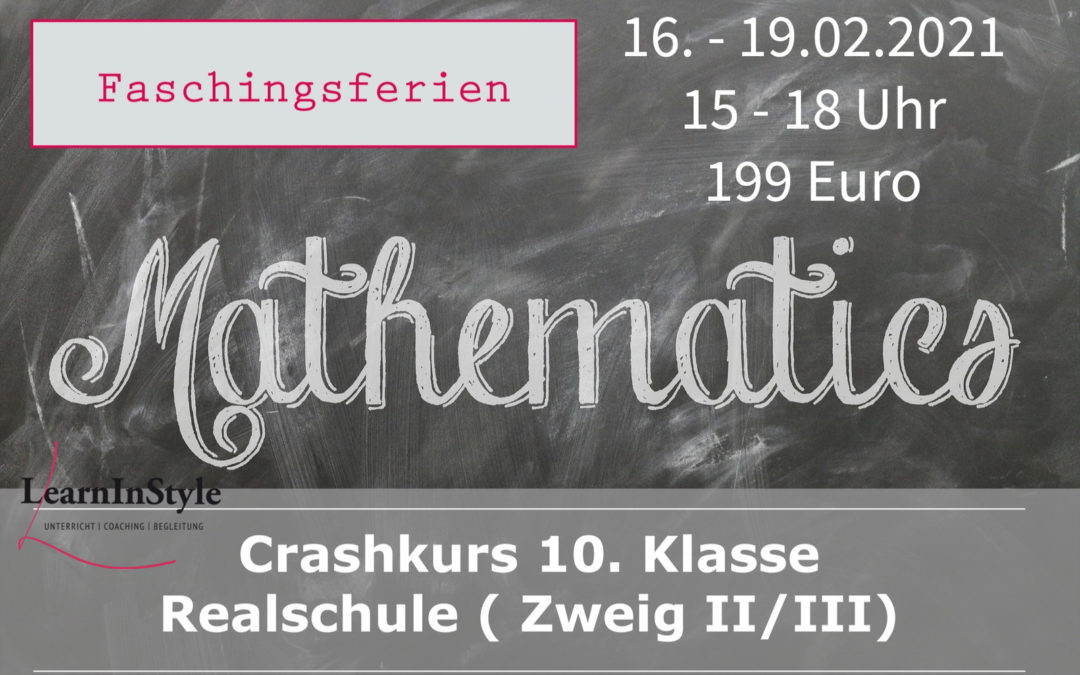 Crashkurs Mathe 10.Klasse Realschule