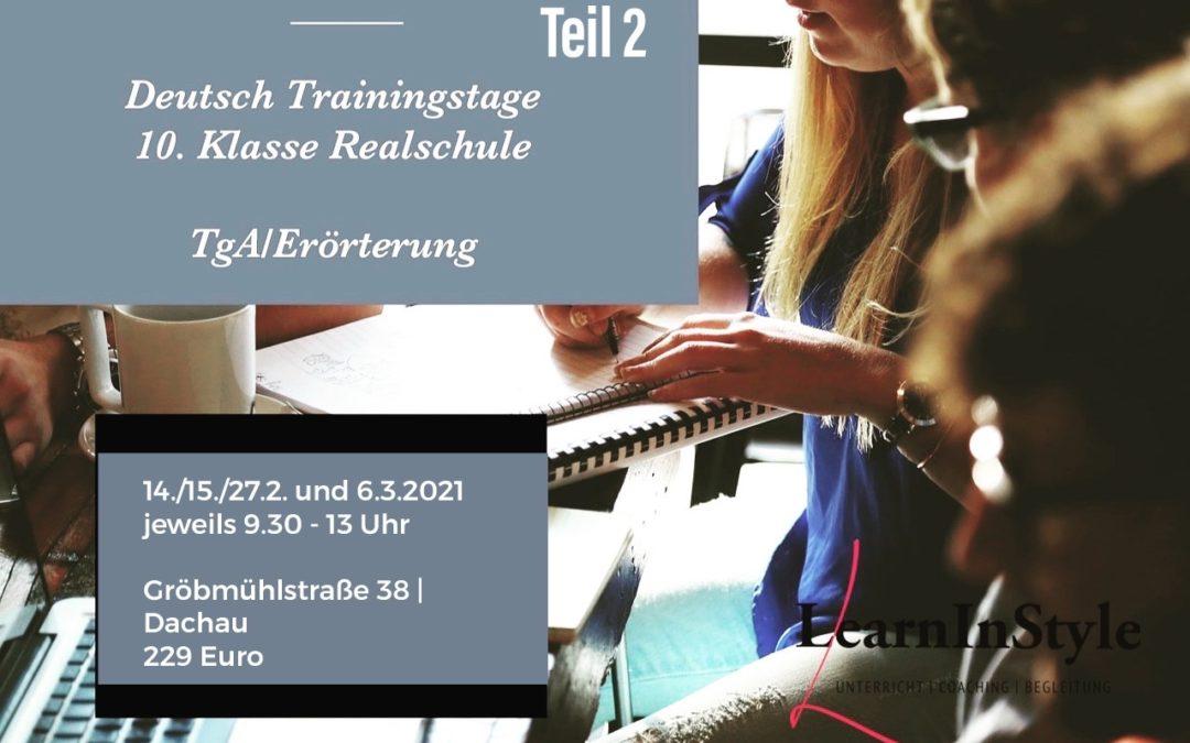 Deutsch Trainingstage Realschule