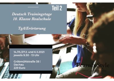 Deutsch Trainingstage Realschule