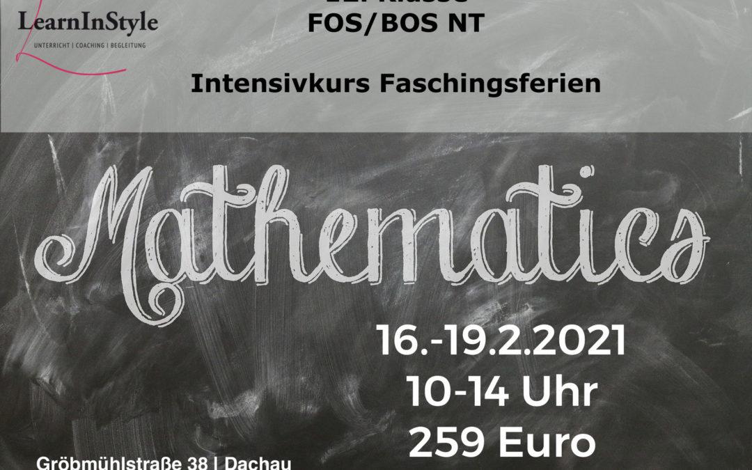 Intensivkurs Mathe 12. Klasse FOS