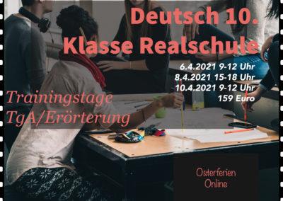 Deutsch Trainingstage Realschule – Osterferien