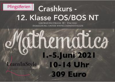 Crashkurs Mathe 12. Klasse FOS – Pfingstferien
